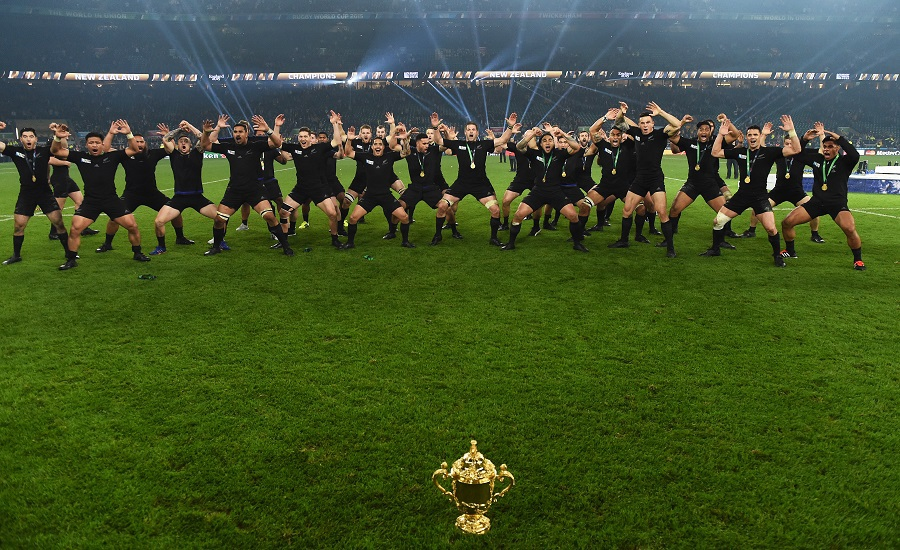 RUGBY - World Cup Final Haka