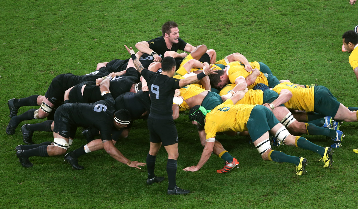 RUGBY - ALL BLACKS SCRUM