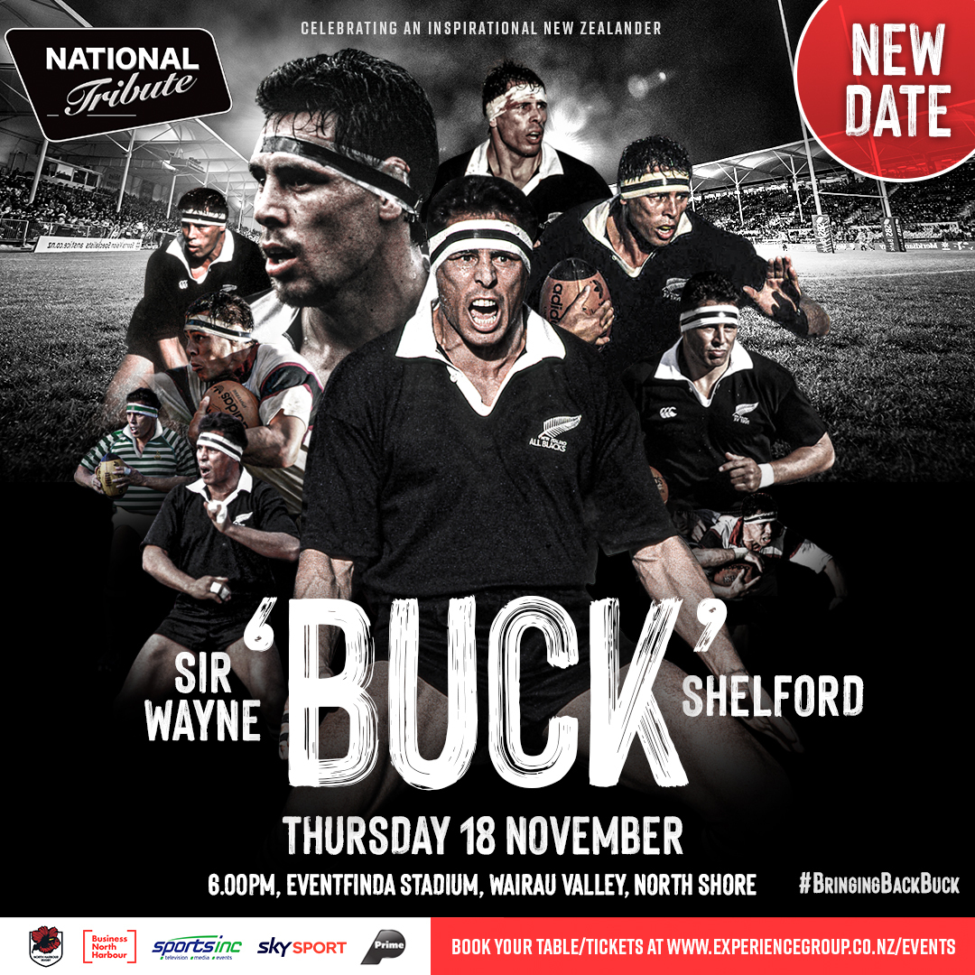 New Date - Buck Shelford Tribute
