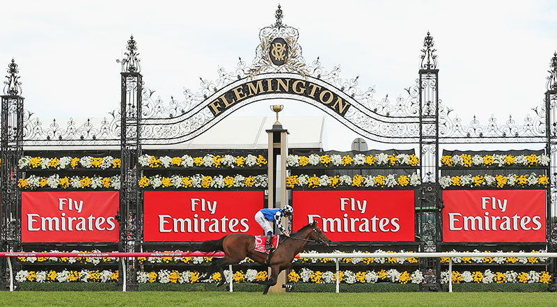 Melbourne Cup Finish Line